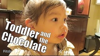 Toddler and the Chocolate- itsMommysLife
