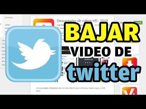 Bajar videos de Twitter con el celular