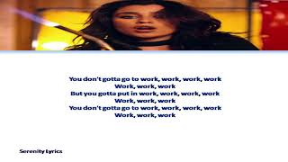 Fifth Harmony - Work from Home ft. Ty Dolla $ign Lyrics