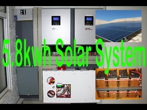 5.8kwh Solar System w/ 25kwh Chevy Volt Lithium and MPP Solar Inverter Charge Controller Part 1
