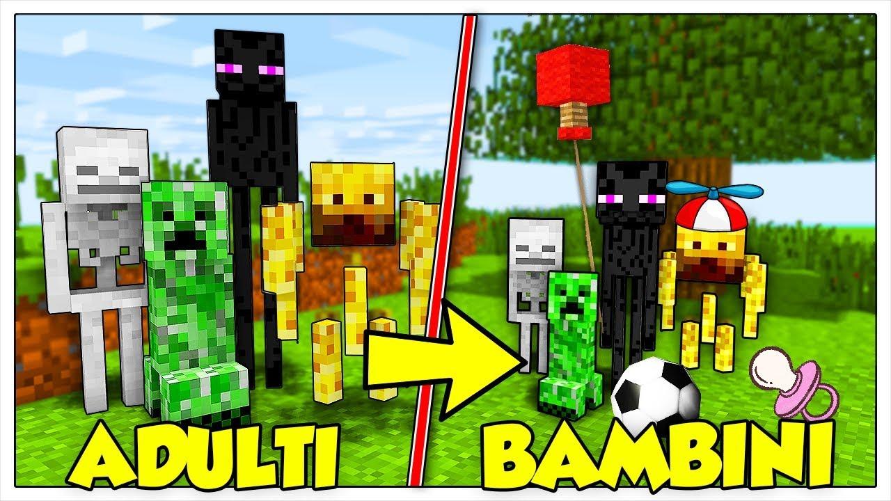 Se tutti i mob di minecraft fossero bambini youtube for Immagini di blaze