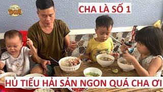 """Khương Dừa """"đảm đang"""" sáng sớm đi chợ mua đồ về nấu hủ tiếu hải sản cho cả nhà ăn!!!"""