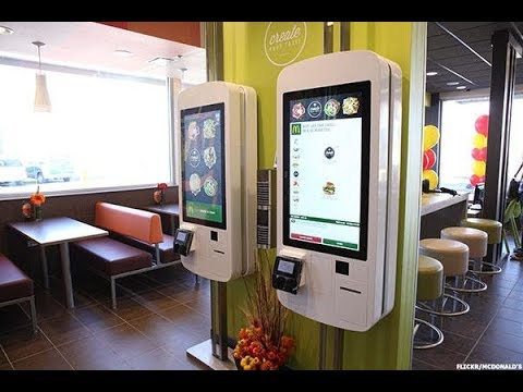 Mcdonald S Self Order Kiosk In Action Youtube