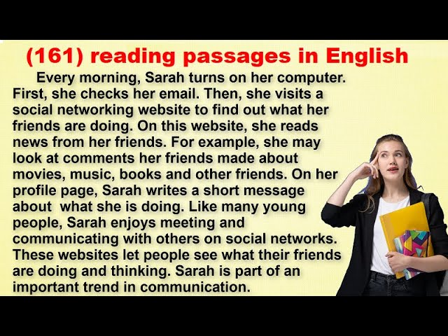 (Reading Practice (Improve your pronunciation in English