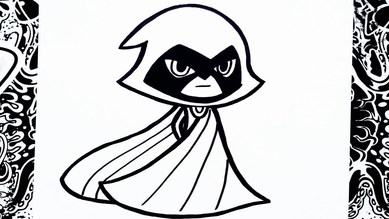 Como Dibujar A Raven How To Draw Raven Youtube