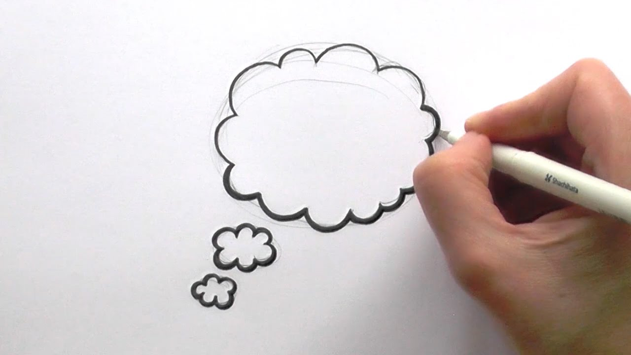 How to Draw a Cartoon Thought Bubble - YouTube