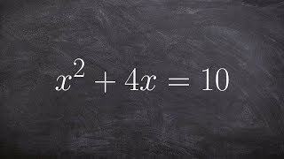 Solving an equation bỳ completing the square