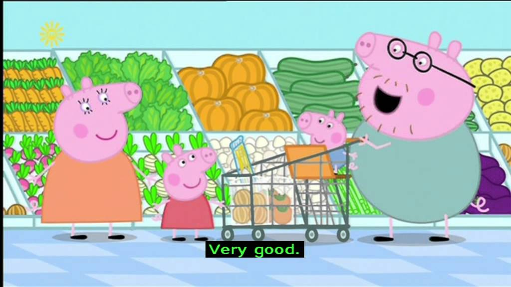 peppa pig series 1 shopping with subtitles youtube. Black Bedroom Furniture Sets. Home Design Ideas