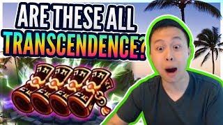 UNBELIEVABLE! 3 Nat 5 IN A ROW! - Hidden Transcendence Scrolls?! - Summoners War