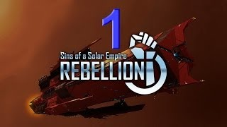 Rebellion - Sins of a Solar Empire. Part 1. Large Map. TEC - Loyalists. Maximum difficulty. HD