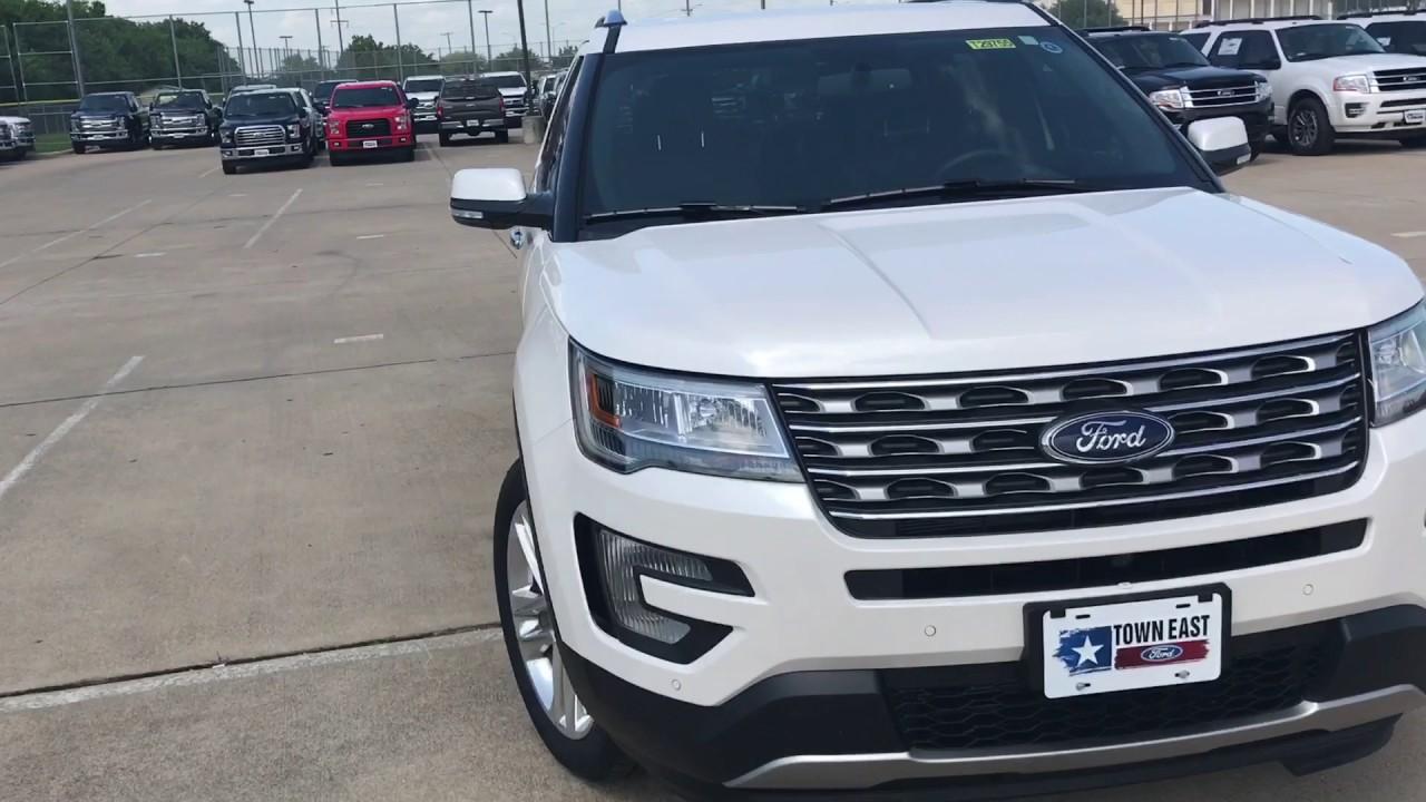 White Platinum Tri Coat 2017 Ford Explorer Limited Youtube
