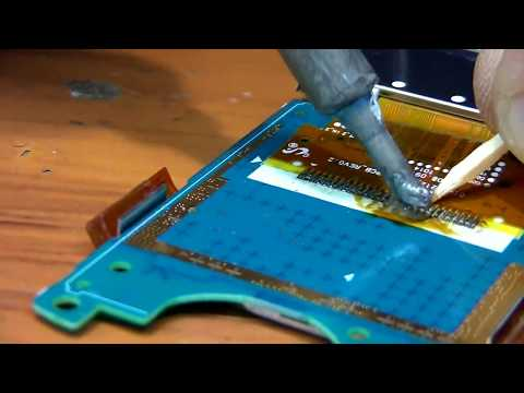 SAMSUNG C5212i дисплей - часть 2 / SAMSUNG C5212i how to replacer LCD - part 2