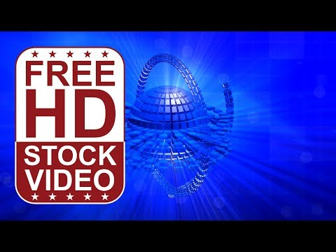 FREE HD video backgrounds - abstract animated blue hi tech digital technology business background