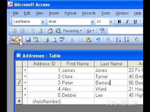 Microsoft Office Access 2003 Insert a default value in a field ...