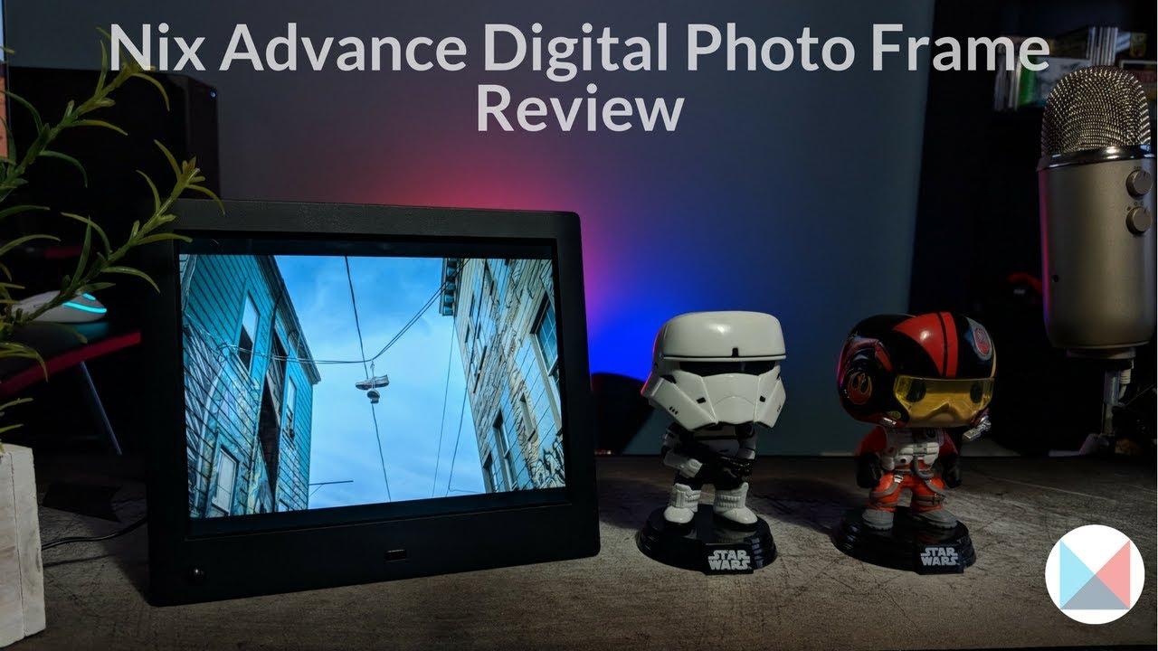 Nix Advance Digital Photoframe Review - YouTube