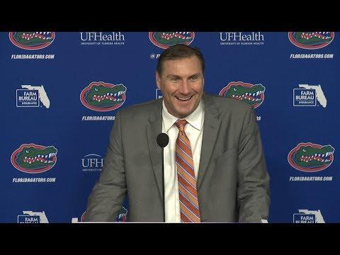 Florida Football: National Signing Day Press Conference 12-20-17