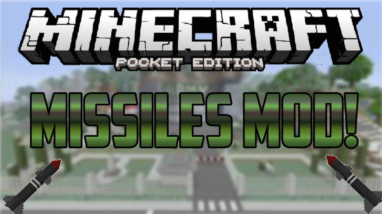 how to make a missile in minecraft pocket edition