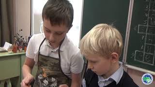 Урок ИЗО в первом классе - техника эбру