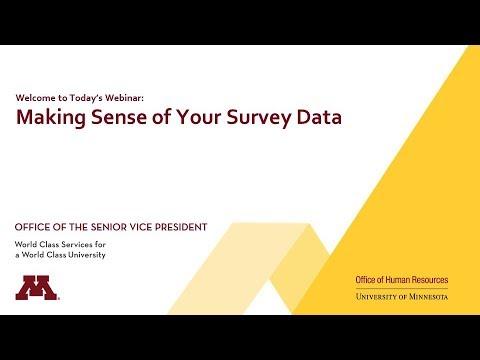 Making Sense of Your Survey Data