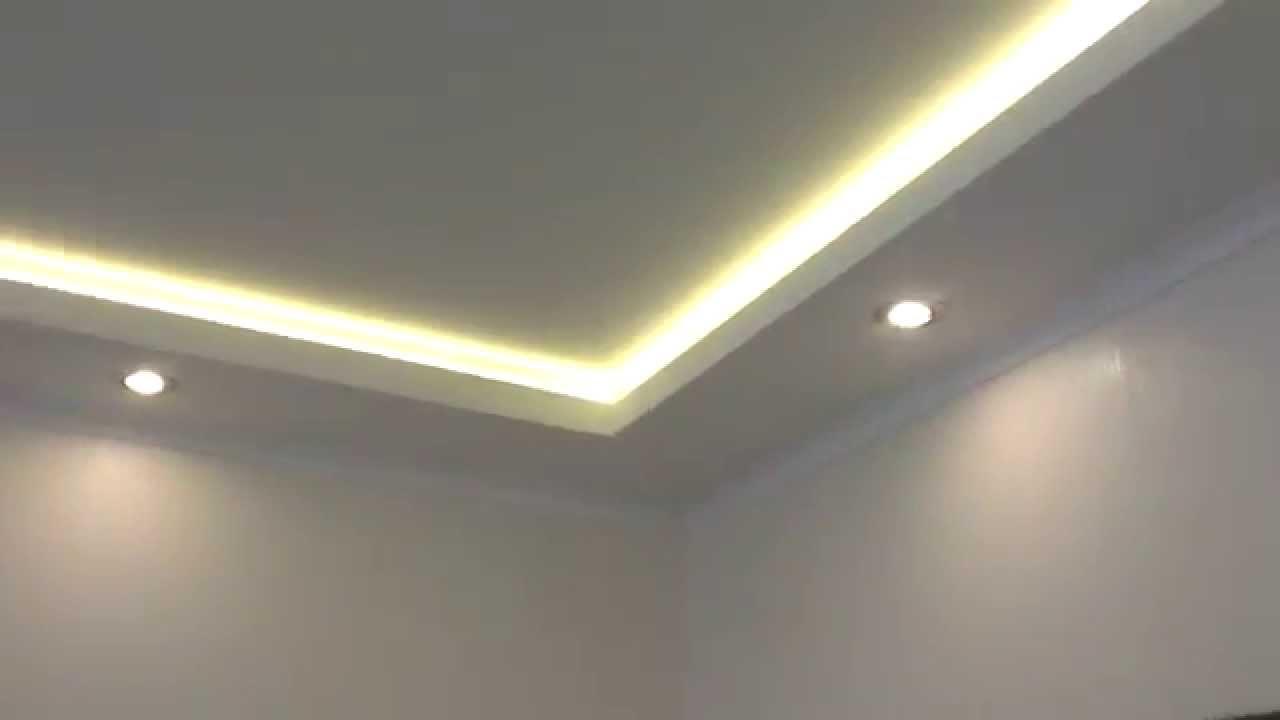 потолки с светодиодной подсветкой фото
