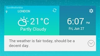 LG G3 Weather Widget for Any Android Phone