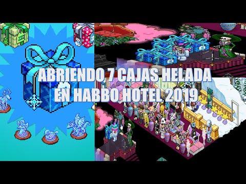 Abriendo 7 Cajas Helada En Habbo Hotel 2019