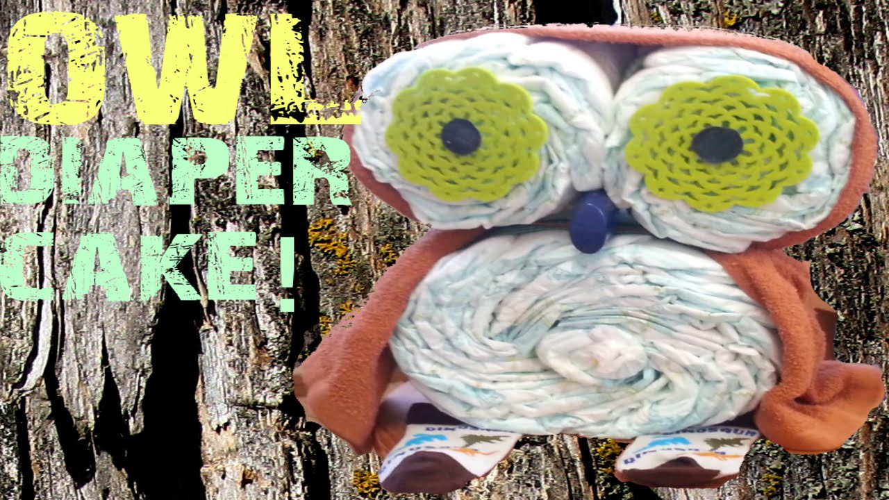Owl diaper cake creation in under 4 minutes youtube owl diaper cake creation in under 4 minutes baditri Gallery