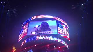 Natalie K Sings the National Anthem at the Lakers Game