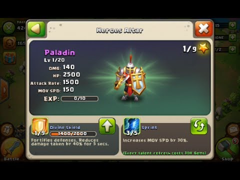 Castle Clash Paladin Account Donated By Lunchbox333