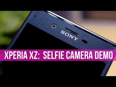 Sony Xperia XZ selfie camera demo: 5-axis image stabilization