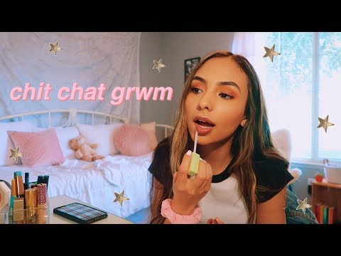 chit chat get ready with me + important updates!!