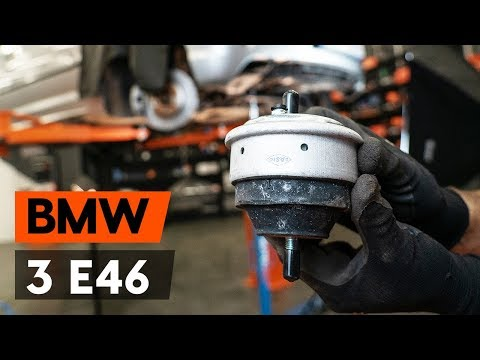 How to replace engine mount / motor mount onBMW 3 (E46)[TUTORIAL AUTODOC]