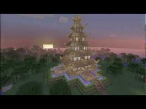 minecraft temple chinois doovi. Black Bedroom Furniture Sets. Home Design Ideas