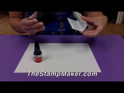 How To Re-Ink a 2000 Plus Self-Inking Stamp