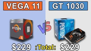 Ryzen 5 2400G APU vs GT 1030 + G4560 | Which is Better Value for Money...???