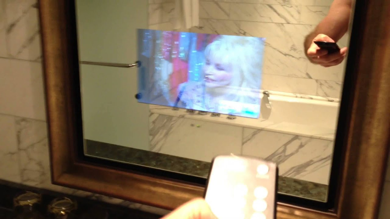 TV Built In To The Bathroom Mirror   Mar 14, 2013   YouTube