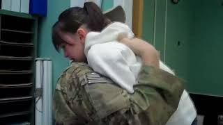Airman, Home Early, Surprises His Mom at Dinner