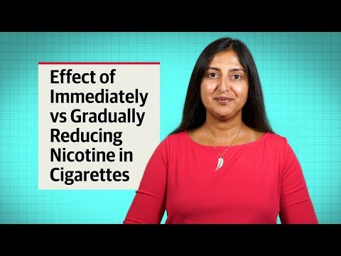 Smoking Cessation: The Effect Of Immediately Vs Gradually Reducing Nicotine In Cigarettes