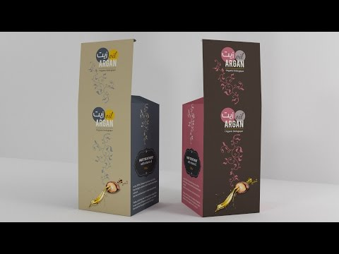 PACKAGING DESIGN 3D - oil ARGAN - speed art - Tutorial Adobe illustrator CC