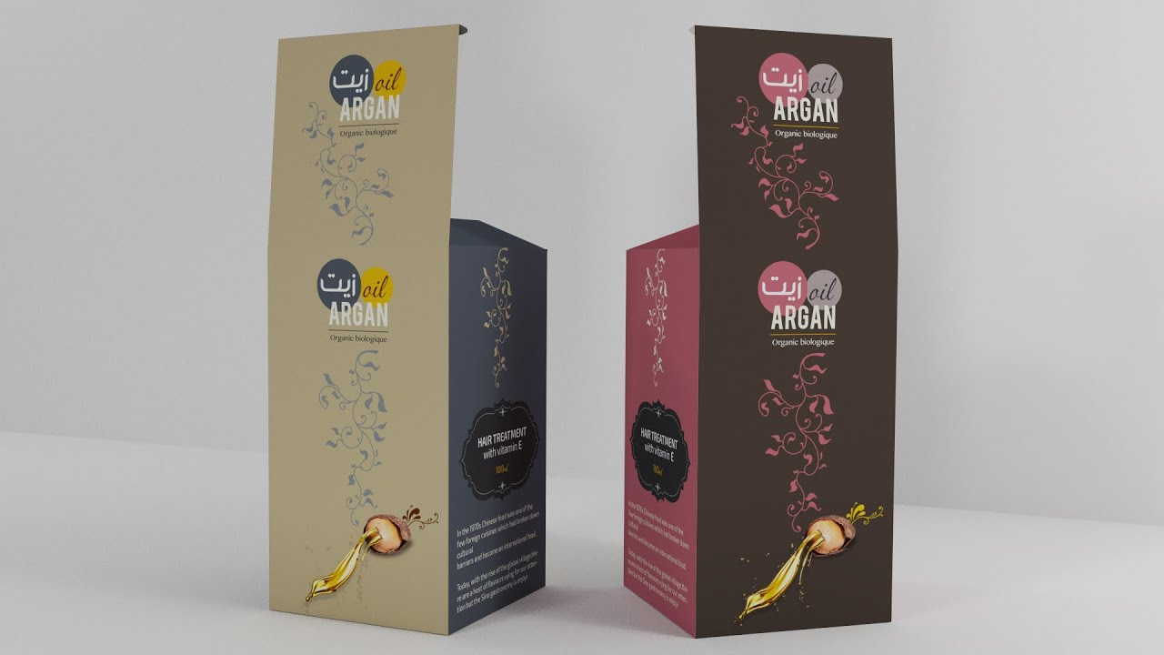 Packaging design 3d oil argan speed art tutorial for Adobe illustrator packaging templates