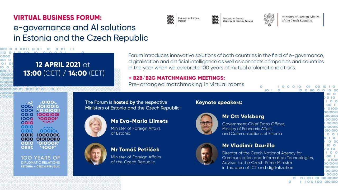Virtual Business Forum: Estonia and Czech Republic