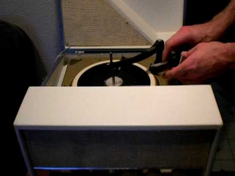 """Old 7"""" Home made acetate record / recording, poetry reading (Mary S. Holley Holly Holland?)"""