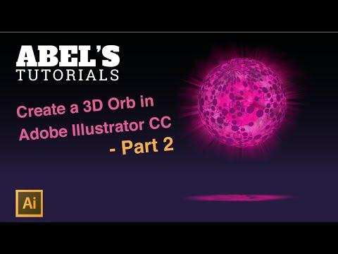 Adobe Illustrator CC Tutorial: Create a 3D Orb - Part 2 thumbnail