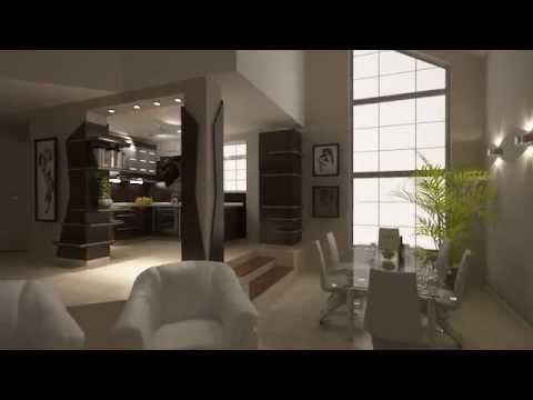 Furnierte Kchenschrnke mit Halbinsel offene Kche zum Wohnzimmer  YouTube