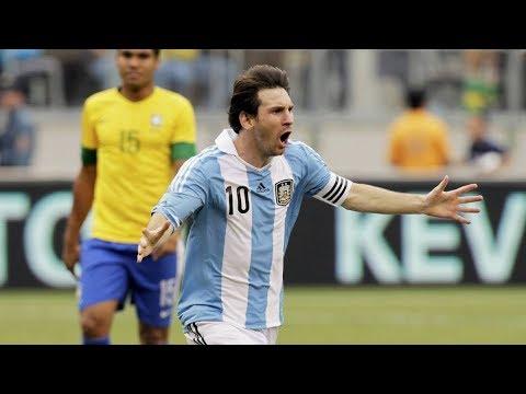 TODOS los GOLES de MESSI a BRASIL | Selección Argentina 2005-2019