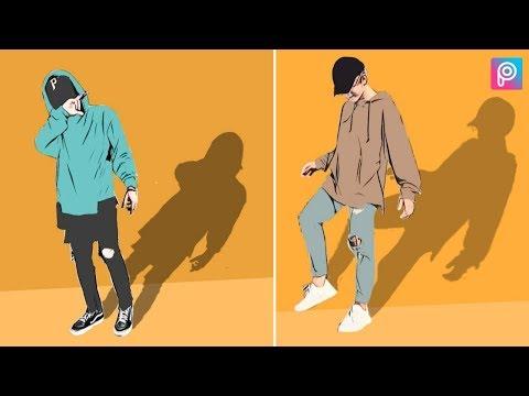 PicsArt Edit Full Cartoon Effect || Vector Art || PicsArt Photo Editing