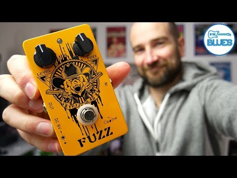 Caline Fuzzy Bear CP-46 Fuzz Pedal Review (Hendrix Fuzz Face Style)