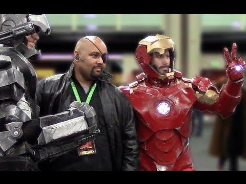 Iron Man War Machine Cosplay Costumes At Comic Con Salt Lake Youtube