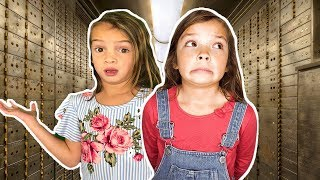 TOY VAULT Escape Room Challenge! Stuck inside secret toy Vault!