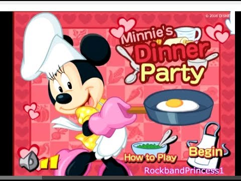 mickey mouse games minnies dinner party game cooking games youtube